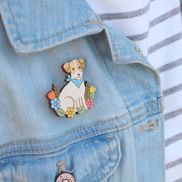 jack russell brooch by layla amber