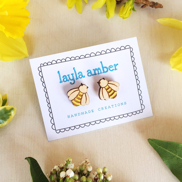 bee earrings by layla amber