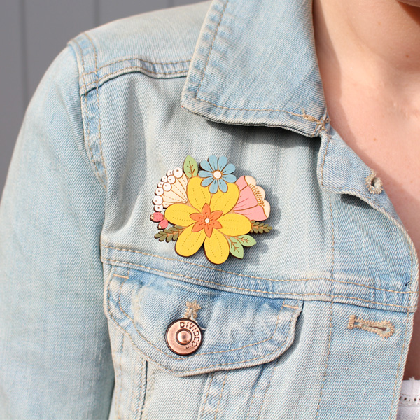 daffodil posy brooch by layla amber